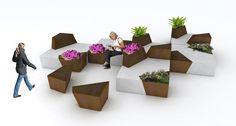 Sedute modulari Block http://www.differentdesign.it/sedute-modulari-block/ Un sistema versatile per #arredare gli spazi pubblici