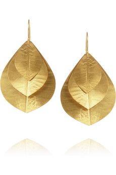Kevia Three Petal gold-plated earrings | THE OUTNET