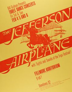 Jefferson Airplane at the Fillmore Auditorium [Mint Condition]. #jeffersonairplane #fillmoreauditorium