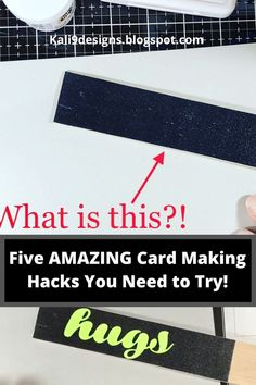 As crafters, it's sometimes hard to make our small works of art when we don't always have great tools. In this video, I'll show you five easy ways to make your crafting and card making easier and fun! #sharehandmadekindness #cardmaking #crafts #handmadecards #cards