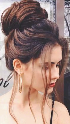 Hairstyles For Medium Length Hair Easy, High Bun Hairstyles, Classy Hairstyles, Bride Hairstyles, Weave Hairstyles, Medium Hair Styles, Long Hair Styles, Hairstyles Haircuts, Updo Hairstyle