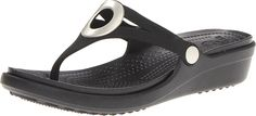 crocs Women's Sanrah Flip Wedge *** Startling review available here  : Sandals