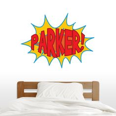 Custom Superhero Comic Book Name - Printed Wall Decal - Sweetums Wall Decals