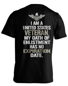 """Pick your favorite style: Are you a proud Veteran? Now you can show it with this """"No Expiration Date"""" design made just for heroes like you! - Guaranteed safe and secure checkout via Amazon / VISA / MA"""