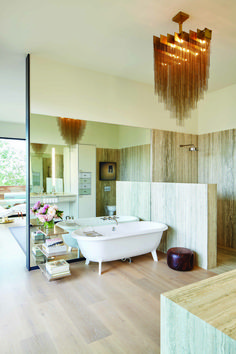 Negative E Airy Openness And A Luxurious Feel Help Shape This Stunning Bathroom