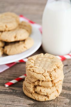 Perfect Peanut Butter Cookies - crisp on the outside, soft and chewy on the inside, and incredibly delicious! | The Baker Upstairs