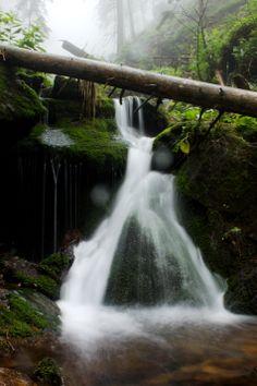 """High waterfall"", Jeseniky mountains, Czech republic Czech Republic, Waterfall, Wanderlust, Mountains, World, Nature, Travel, Outdoor, Outdoors"