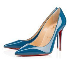 DECOLLETE 554 PATENT, OCEAN, Patent, Women Shoes, Louboutin.
