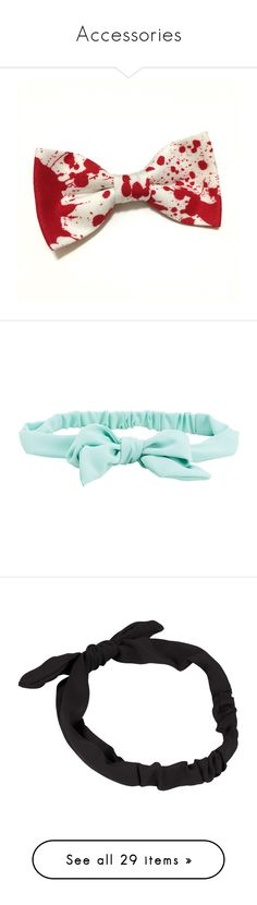 """""""Accessories"""" by amysykes-697 ❤ liked on Polyvore featuring accessories, hair accessories, bow, hair, extras, bow hair accessories, hair bows, headbands, headwear and mint sprig"""