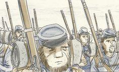 'Battle Lines' Is A Civil-War Comic Hollywood Can Learn From - The Atlantic Civil War Comic, Teaching Us History, New Politics, Graphic Novels, American Civil War, Nonfiction Books, Ccss Ela, Literature, Battle