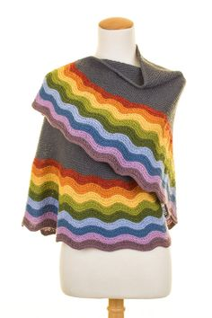 Colorful Knit Shawl Pattern