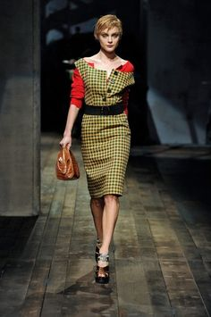 Prada -- fall 20136  I love the prada concept for Fall 2013!! the basic cardigan thrown on then a sexy dress on top. Brilliant!