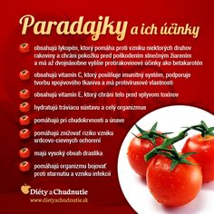 Infografika - paradajky a ich účinky. Skúšali ste rôzne tipy ako schudnúť a ani jeden vám nezabral? Je na čase vyskúšať silu paradajok, ktoré sú ideálne pri chudnutí a pri držaní niektorej z diét.  http://www.dietyachudnutie.sk/ako-schudnut/ako-schudnut-zdravo-s-paradajkami/