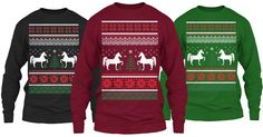 HORSE Ugly Christmas Sweater. #horses #pony #equine #horse #equestrian #equine #horseshow #showjumping #thoroughbred #hunterjumper #equestrianphotography #barrels #barrelracing #barrelracer #quarterhorse #horsebackriding #dressage