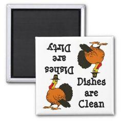 Thanksgiving Turky Dishwasher Magnet