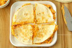 Buffalo Chicken Dip Quesadillas #SundaySupper