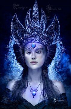 """Ereshkigal ( Suméria ) - Deusa da Attalu , a terra das memórias mortas e ancestrais . Seu nome traduz como """" grande dama debaixo da terra . """" Irkalla é um nome alternativo através do qual esta deusa é identificada"""