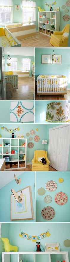 Loving teal and yellow nurseries