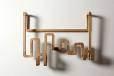 made with straight and bend wood pieces