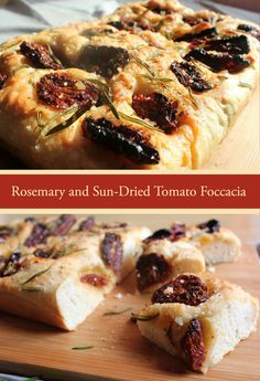 My Rosemary and Sun-Dried Tomato Foccacia as featured on my blog: The Ediblestoryboard