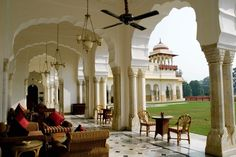 Stay at the Rambagh Palace Hotel in Jaipur, India.