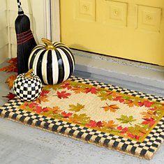 New for Fall from Mackenzie-Childs #MacKenzie-Childs #Pumpkin #Checkerboard