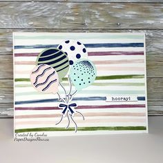 A speedy card for this weeks Atlantic Hearts Sketch Challenge! I bought the Party Balloons Stamp & Thins Cuts from CTMH with plans to use . Heart Sketch, Close To My Heart, Diy Cards, True Love, Card Stock, Birthday Cards, Daisy, Balloons, Banner
