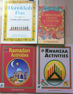 5 LOT HOLIDAY ART PROJECTS ACTIVITIES CHRISTMAS KWANZAA RAMADAN HANUKKAH Hanukkah Crafts, Feliz Hanukkah, Holiday Crafts For Kids, Christmas Hanukkah, Kwanzaa, Holiday Activities, Craft Activities, Holiday Fun, Christmas Crafts