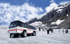 Athabasca Glacier, Alberta, Canada.  Quite cold, but astonishingly beautiful. and not complete without the epic, giant wheeled tractor buses