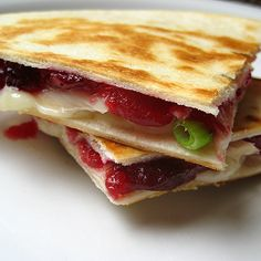 using leftover turkey....my take-mix cream cheese with cranberry sauce .. oh yum! LUNCH