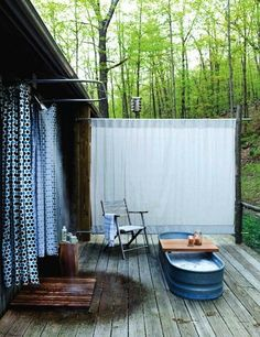Outdoor Shower Photographed by Seth Smoot