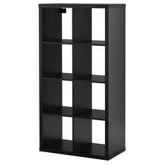 KALLAX Shelving unit - black-brown - IKEA