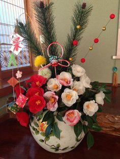 フラワーアレンジ:お正月の準備