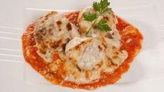 Receta de Albóndigas gratinadas con salsa de tomate y bechamel #albóndigas #bechamel #salsadetomate