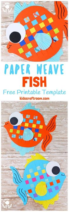Here's a Woven Fish Craft that's perfect for Summer. These colourful fish are super fun to make and a great way to introduce kids to some simple weaving. To help keep things easy we've got a free printable template for you too. (It also doubles up as a fish colouring sheet, so you can enjoy twice the fun!) #fish #summercrafts #paperweaving #kidscrafts #kidsactivities #fishcrafts #craftsforkids #papercrafts #printables #freeprintables #weaving #kidscraftroom Paper Crafts For Kids, Crafts For Kids To Make, New Crafts, Summer Crafts, Projects For Kids, Craft Kids, Art Projects, Ocean Crafts, Fish Crafts