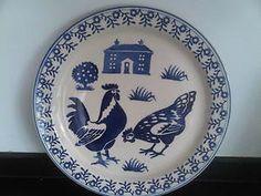 blue hen cake plate