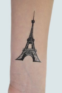 Eiffel Tower Temporary Tattoo Paris Temporary by JoellesEmporium £3.00