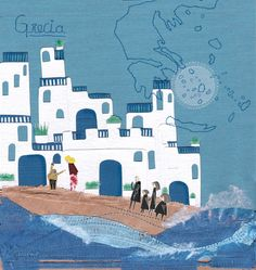 ♥Grecia. Textil illustration