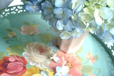 gorgeous tole painted tray