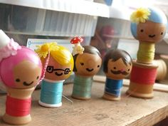 Spool Doll | Spool Dolls Tutorial! - Things to Make and Do, Crafts and Activities ...