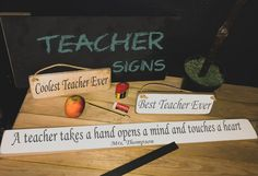 No need to buy the teacher an apple this year, for that extra special touch personalise one of our handmade wood signs that they will keep forever!  Our personalised signs are a great way to show your teacher how thankful you are for all their hard work. Check them out and customise your own on our website! http://www.austinsloan.co.uk/search.asp?types=Teacher