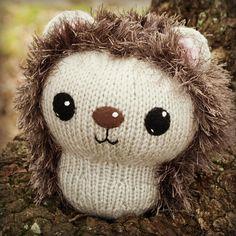 Ravelry: Knit Hedgehog, 8 inch pattern by Lisa Eberhart
