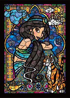 Amazon.co.jp | 266ピース ジグソーパズル ステンドアート アラジン ジャスミン ステンドグラス ぎゅっとシリーズ(18.2x25.7cm) | おもちゃ 通販