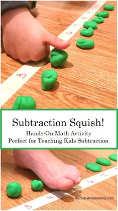 Hands-On Math Activity Subtraction Squish is a fun, hands-on math activity that is perfect for teaching subtraction; this activity is perfect for kinesthetic learners p Subtraction Squish Hands-On Math Activity Subtractio Subtraction Kindergarten, Subtraction Activities, Kindergarten Math Activities, Fun Math Games, Homeschool Math, Teaching Math, Numeracy, Math Worksheets, Online Homeschooling
