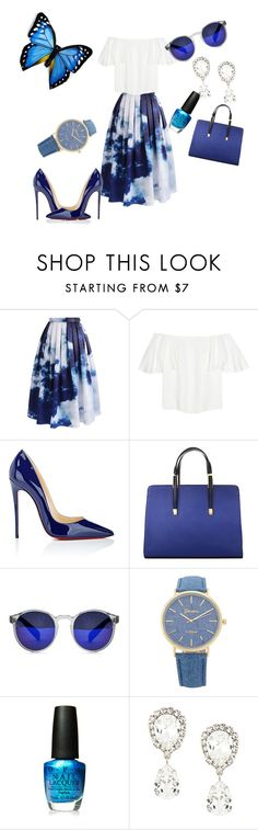 """""""Blue sonshine"""" by amela83 on Polyvore featuring Chicwish, Valentino, Christian Louboutin, Spitfire, OPI and Dolce&Gabbana"""