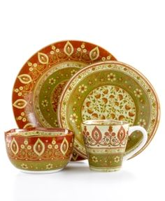 We got this design at HomeGoods and took it to India for the kitchen/dining room there. The kitchen is Tuscan-style and these seemed like a blend of India ...  sc 1 st  Pinterest & Pier 1 Maroma Dinnerware - Absolutely Beautiful!!! | For the Home ...