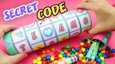 MAKE A GIFT WITH A SECRET CODE TO OPEN IT - CRIPTEX