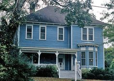 blue house images | Blue House Colors - Bright Blue Victorian House - Color Ideas for Your ...