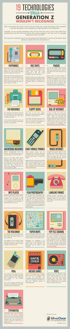 19 Technologies Which Generation Z Wouldn't Recognise #Infographic #Business #Technology