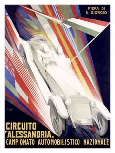 Vintage Cars Circuito Alessandria By: Giuseppe Riccobaldi - Vintage Racing, Vintage Cars, Posters Vintage, Art Deco, Car Posters, Vintage Typography, Sale Poster, Poster Making, Paris